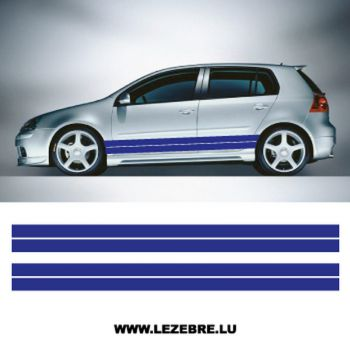 Kit Stickers Doubles Bandes Bas de Caisse Voiture