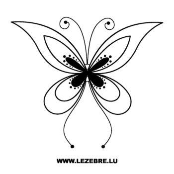 Sticker Papillon 68