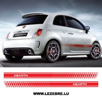 Fiat 500 Abarth stripes decal set