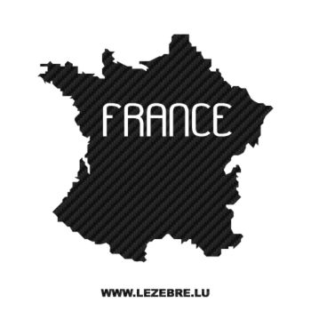 France Hexagone Carbon Decal