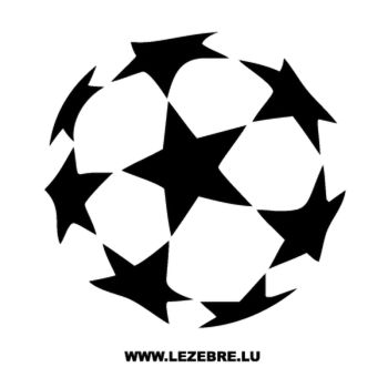 Sticker Ballon Foot Uefa
