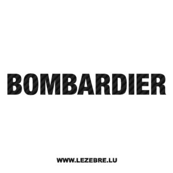 Sticker Carbone Bombardier Logo 2