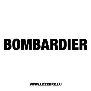 Bombardier Logo Decal 2