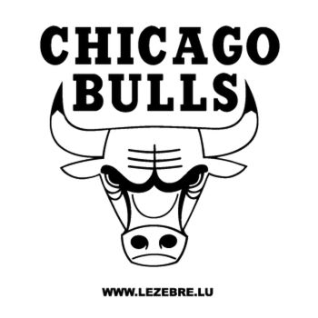 Chicago Bulls Logo Decal 2