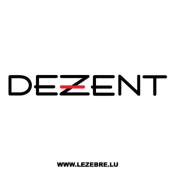 Dezent Logo Decal 2