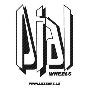 Dial Wheels Logo Carbon Decal