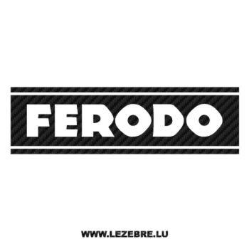 Sticker Carbone Ferodo Logo 2