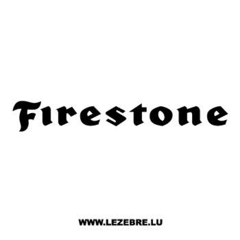 Sticker Firestone Logo
