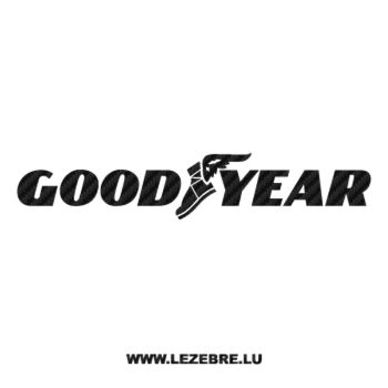 GoodYear Logo Carbon Decal 2