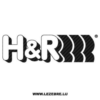 Sticker Carbone H&R Logo