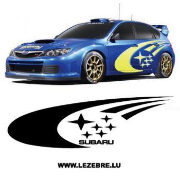 Subaru decoration decal set