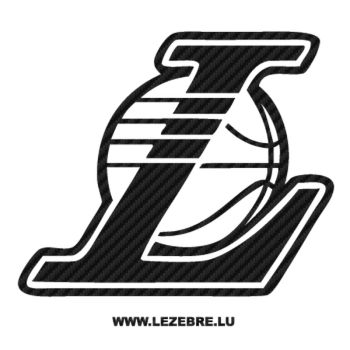 Sticker Carbone Los Angeles Lakers Logo 3
