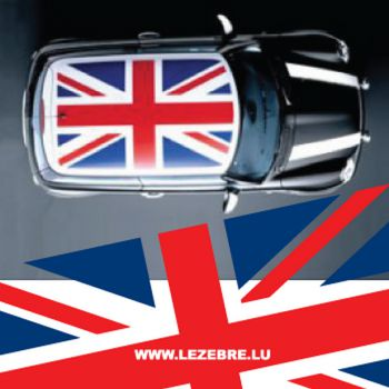 MINI Drapeau Union Jack Flag roof decal
