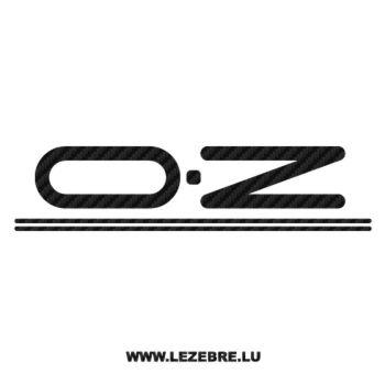 OZ Logo Carbon Decal