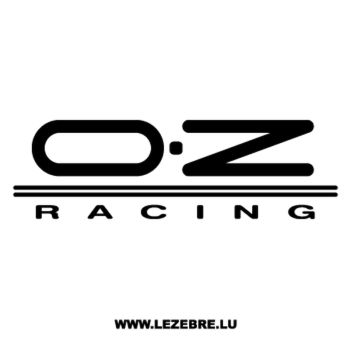 OZ Racing Logo Decal