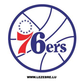Sticker Philadelphia 76ers Logo