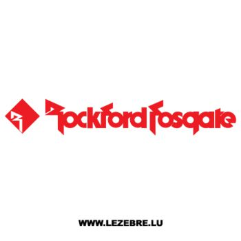 Rockford Fosgate Decal