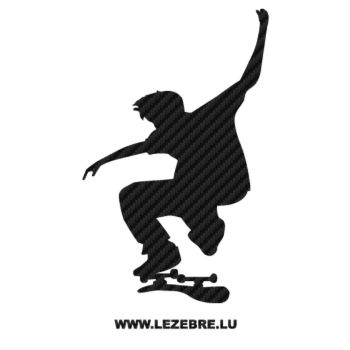 Skater Skateboard Carbon Decal