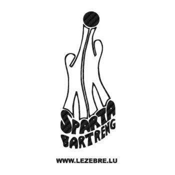 Sticker Carbone Sparta Bartreng Logo