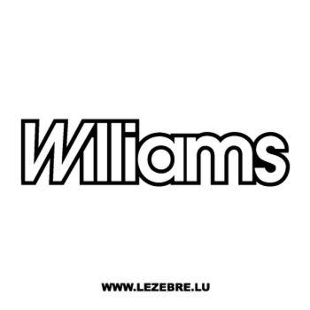 Williams Logo Decal