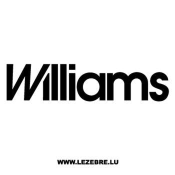 Williams Logo Decal 2