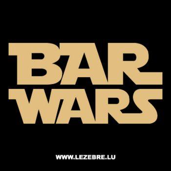 Sweat-Shirt BAR WARS parodie STAR WARS