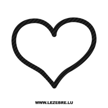 Heart Carbon Decal