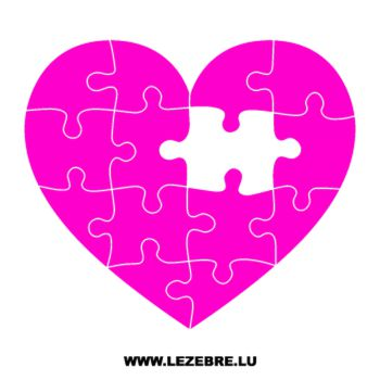 Puzzle Heart Decal