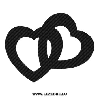 Hearts Carbon Decal 7