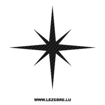 Sticker Carbone Déco Étoile