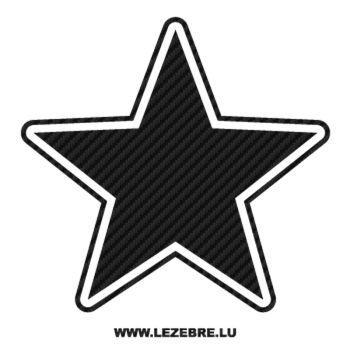Sticker Carbone Déco Étoile 10