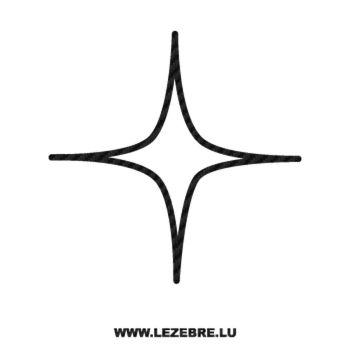 Sticker Carbone Déco Étoile 2