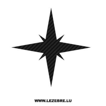 Sticker Carbone Déco Étoile 3