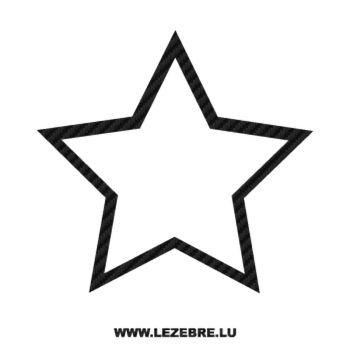 Sticker Carbone Déco Étoile 4