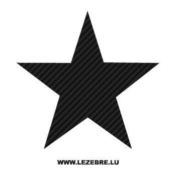 Sticker Carbone Déco Étoile 5