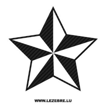 Sticker Carbone Déco Étoile 6