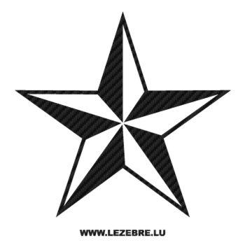 Sticker Carbone Déco Étoile 7