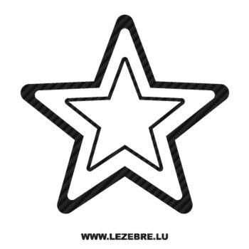 Sticker Carbone Déco Étoile 8