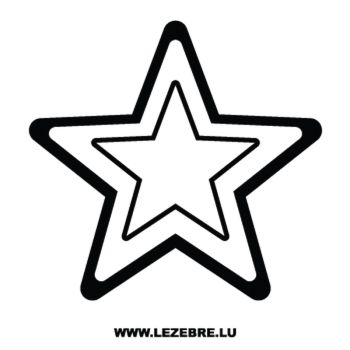 Sticker Étoile 8