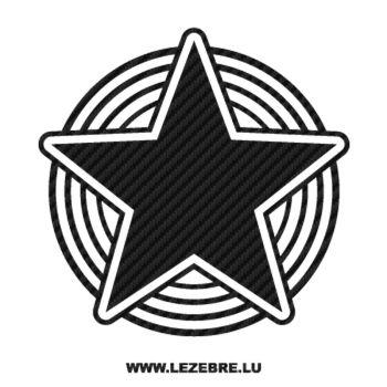 Sticker Carbone Déco Étoile 9