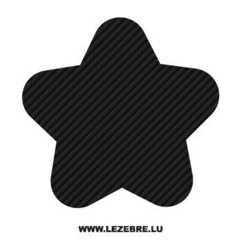 Sticker Carbone Déco Étoile 12