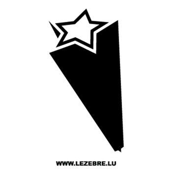 > Sticker Déco Étoile Effet 3D