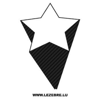 Sticker Carbone Déco Étoile Effet 3D 2