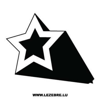 > Sticker Déco Étoile Effet 3D 3