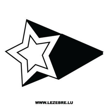 > Sticker Déco Étoile Effet 3D 4