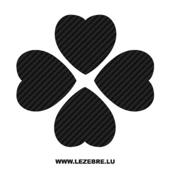 Heart Flowers Carbon Decal