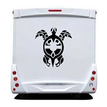 Tribal Turtle Camping Car Decal
