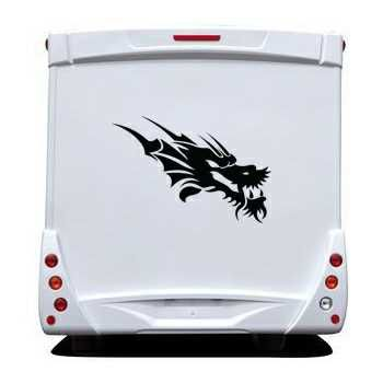 Sticker Camping Car Dragon Tête 14