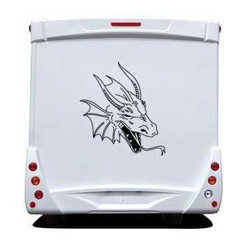 Sticker Camping Car Dragon Tête 16