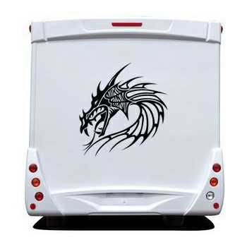 Dragon Head Camping Car Decal 28